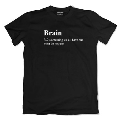 Brain Tshirt Black