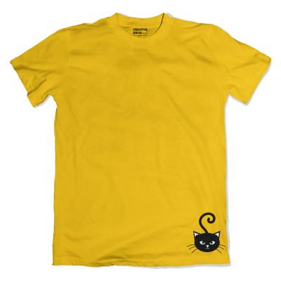 Catilicious Yellow Tshirt