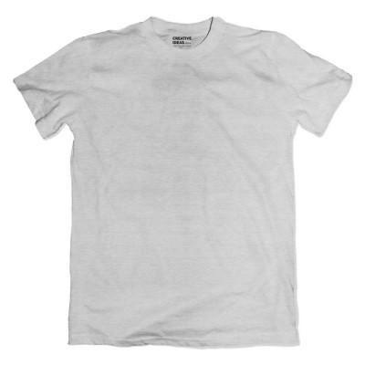 Grey Plain Tshirt | 100% Cotton Bio-washed