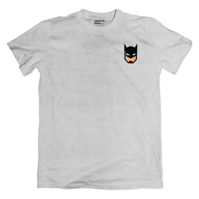 Batman Mask Pocket Grey Tshirt