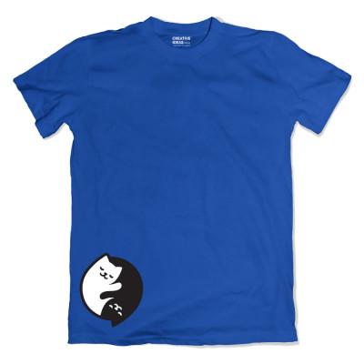 Can love Yin Yang Blue Tshirt