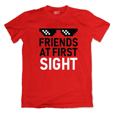 Friends At First Sight Red Tshirt