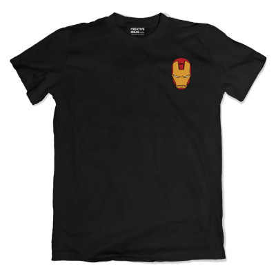 Iroman Mask Pocket Black Tshirt