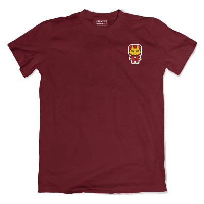 IronMan Pocket Maroon Tshirt