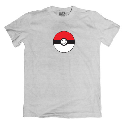 Pokeball Grey Tshirt