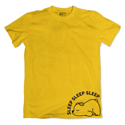 Sleeping Panda Yellow Tshirt