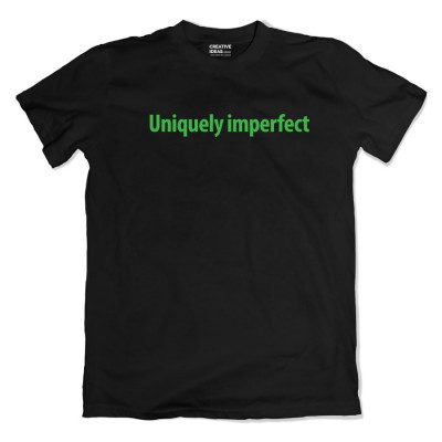 Uniquely Imperfect Black Tshirt