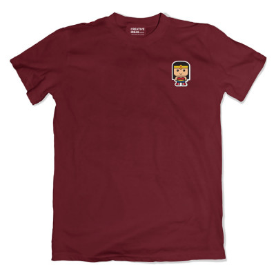 Wonder Women Pocket Maroon Tshirt