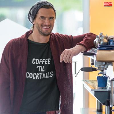 Coffee Till Cocktails Tshirt