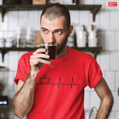Coffee Beats Red Tshirt