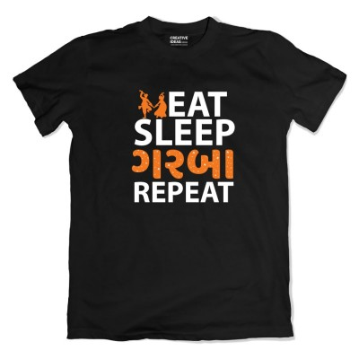 Eat Sleep Garba Repeat Tshirt