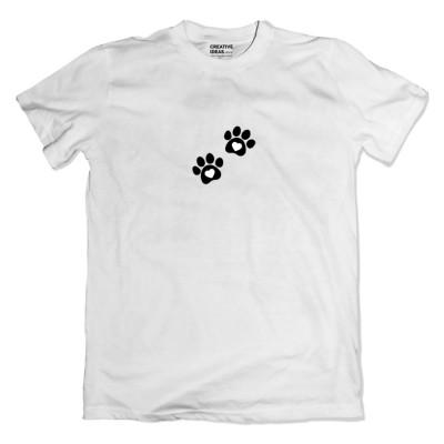 Following You - Paw White Tshirt