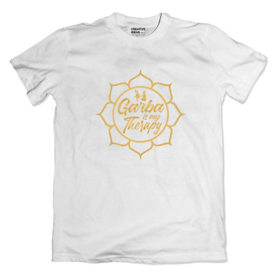 Garba is My Therapy White Tshirt