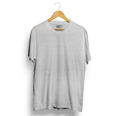 Grey Plain Tshirt | 100% Cotton Bio-washed
