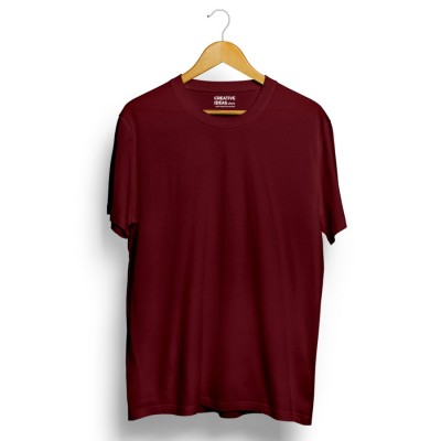 Maroon Plain Tshirt | 100% Cotton Bio-washed
