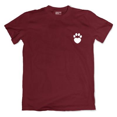 Bottom of My hePAWrrrttt Maroon Tshirt
