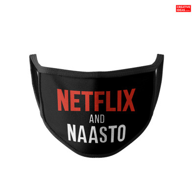 Donate & Get Official Netflix & Naasto Cotton Reusable Super Mask By Viraj Ghelani - Creative Ideas (pack of 3)