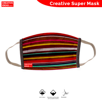 Donate & Get Reusable Super Mask with Linear Print (pack of 3)