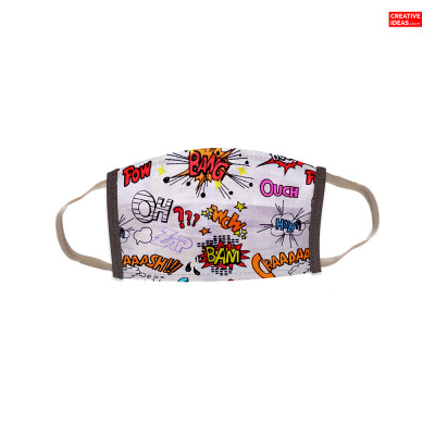 Reusable Super Mask with Comic Print (pack of 3)
