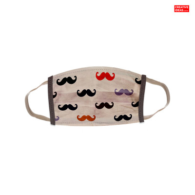 Reusable Super Mask with Mustache Print (pack of 3)