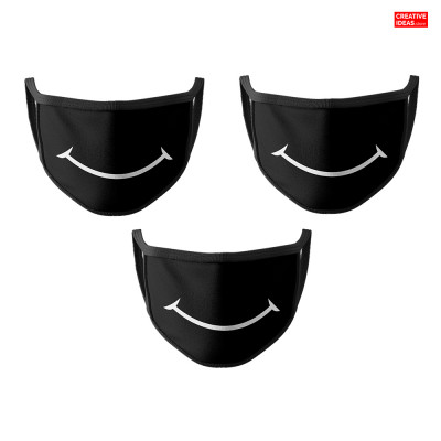 Donate & Get Smile 2 Layer Cotton Reusable Super Mask (pack of 3)