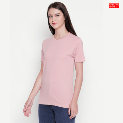 Pink Plain Tshirt | 100% Cotton Bio-washed
