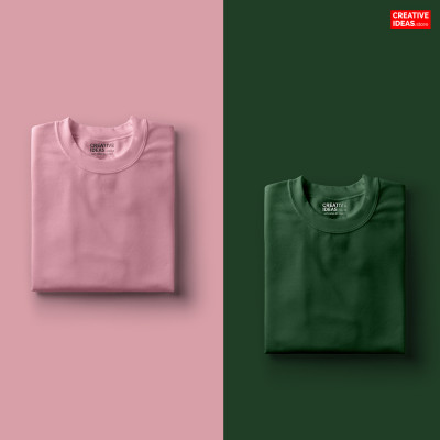 Pack Of 2 Solid T-Shirts Pink and Green
