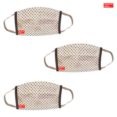 Donate & Get Reusable Super Mask with Polka Print (pack of 3)