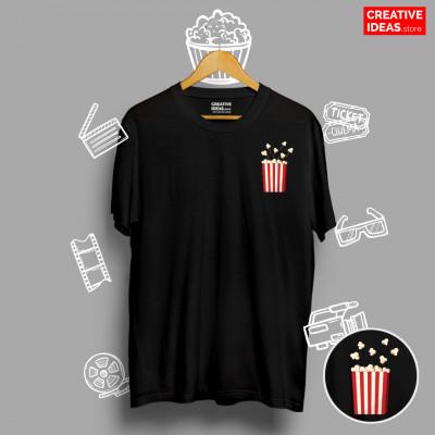 Popcorn Black 90s Tshirt
