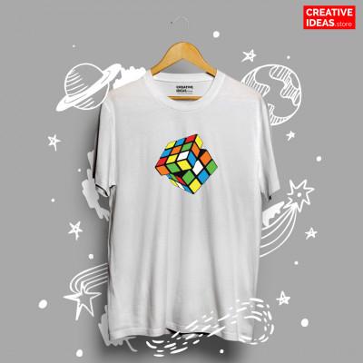 Rubik Cube White 90s Tshirt