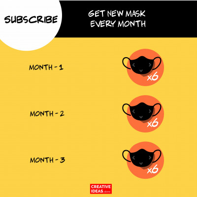 Subscribe 6 Reusable Super Masks (Monthly)