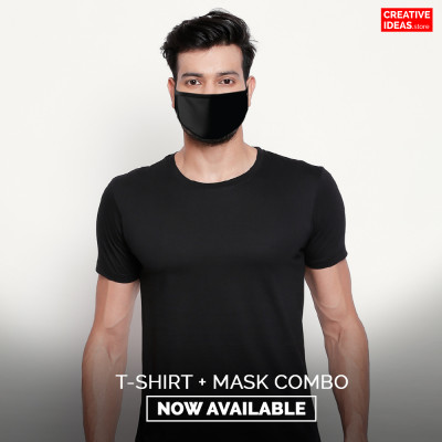 Black T-shirt And Mask Combo