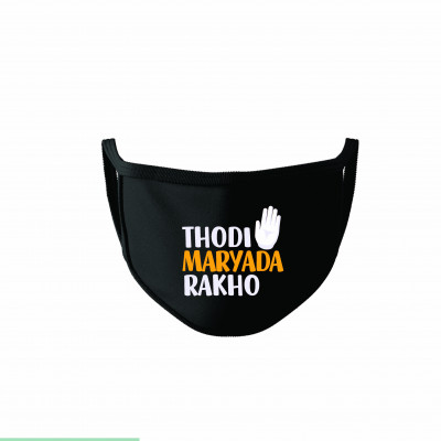 Thodi Maryada Rakho Cotton Reusable Super Mask by The Comedy Factory (pack of 2)