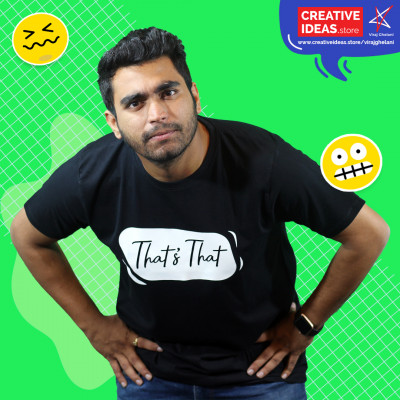That's That Black Tshirt by Viraj Ghelani
