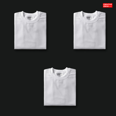 Solid White T-Shirt Pack Of 3