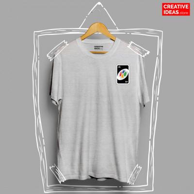 Uno Draw Four Grey 90s Tshirt