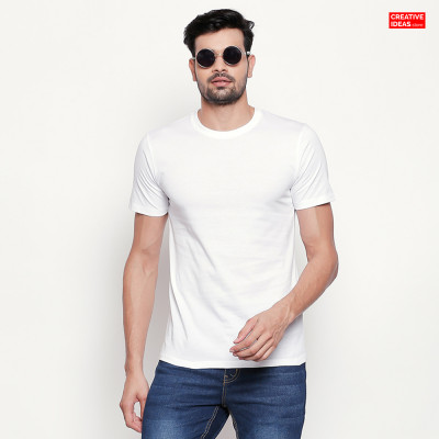 White Plain Tshirt | 100% Cotton Bio-washed