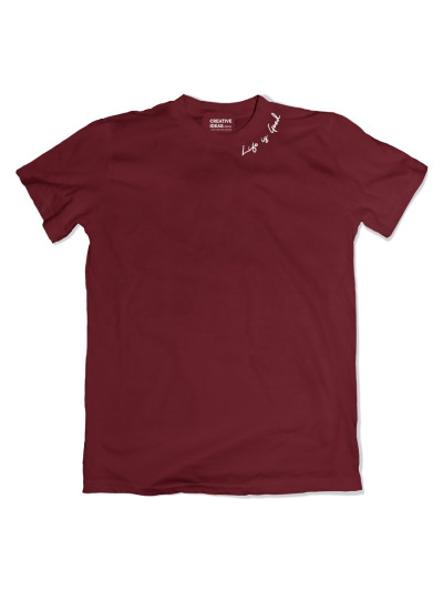 Life is Good Maroon Tshirt
