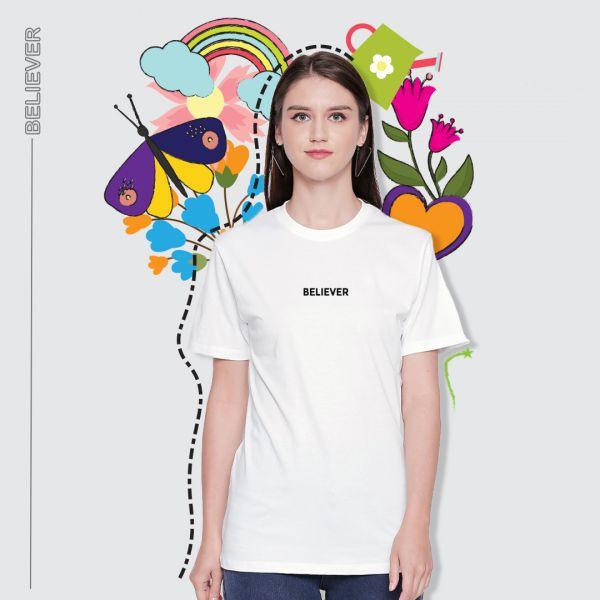 Be Believer White Tshirt