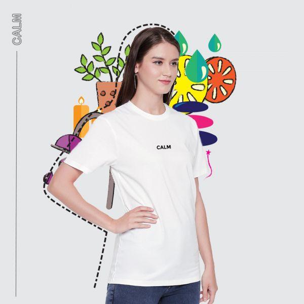 Be Calm White Tshirt