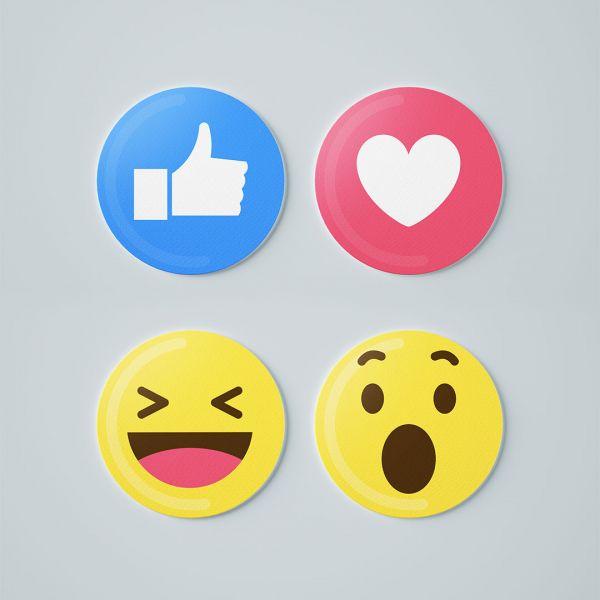 Emoji Round Tea Coaster by - Creative Ideas (Set Of 4)