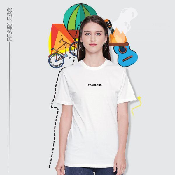 Be Fearless White Tshirt