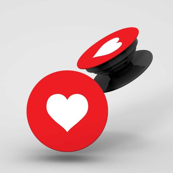 Red Heart Pop Holder