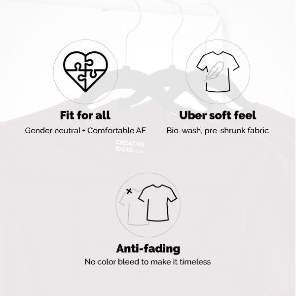 Diet Sabya Heart White Tshirt