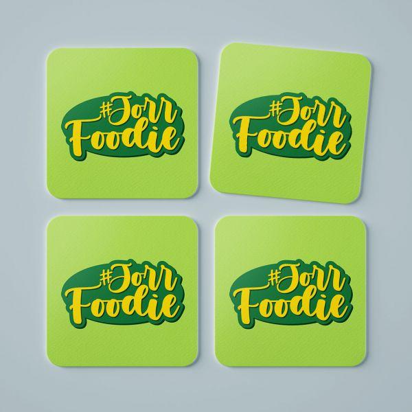 Jorr Foodie Tea Coaster by Aditi Raval - Creative Ideas (Set Of 4)