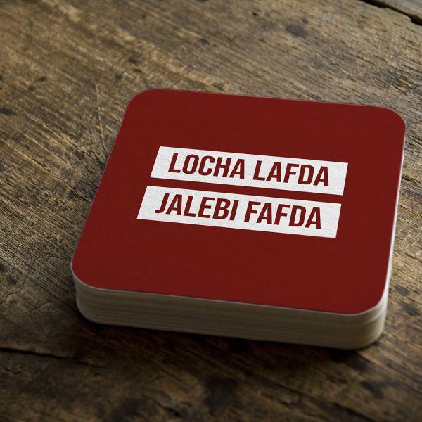 Locha Lafda Tea Coaster Scam 1992 by creativeideas (Pack of 2)