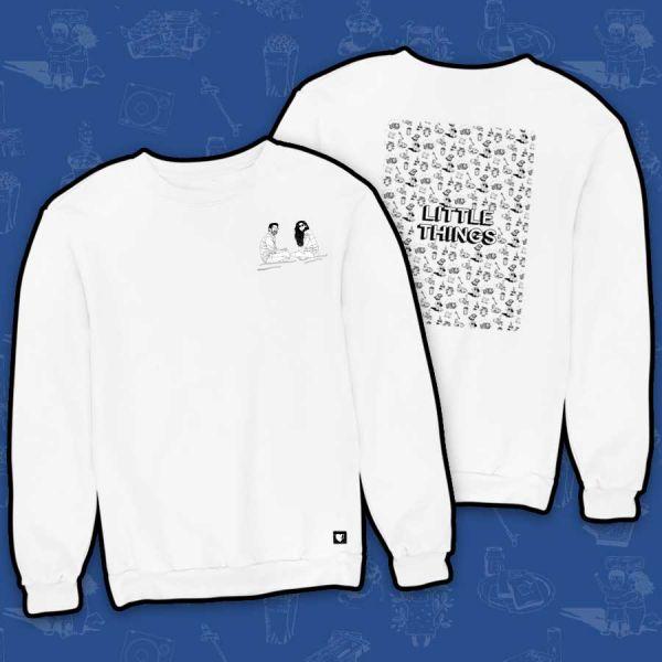 Kavu & Momo White Sweatshirt - Official Little Things Merchandise