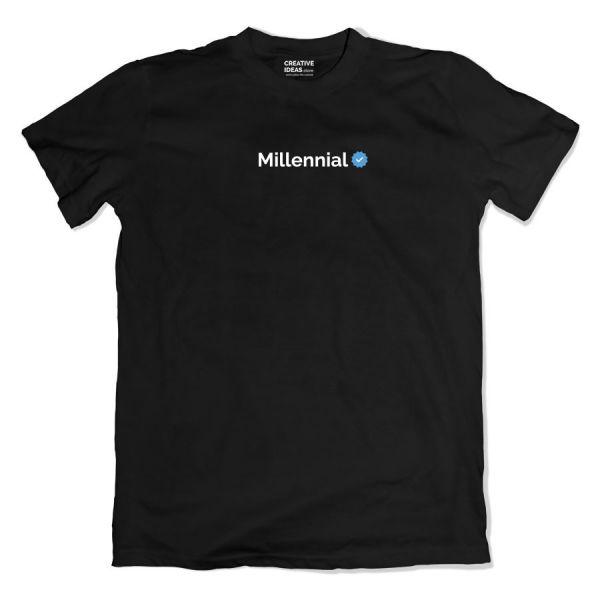 Millennial Verified Black Tshirt