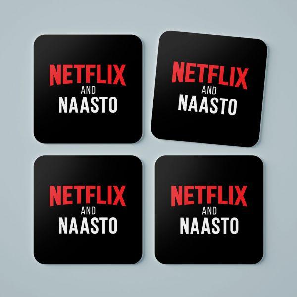 Official Netflix and Naasto Tea Coaster by Viraj Ghelani - Creative Ideas (Set Of 4)