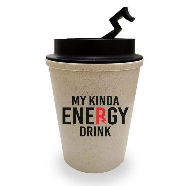 My Kinda Energy Drink Bamboo Coffee Sipper by Viraj Ghelani